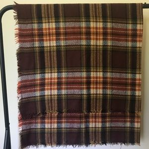 5 for $15 Plaid Square Blanket Scarf